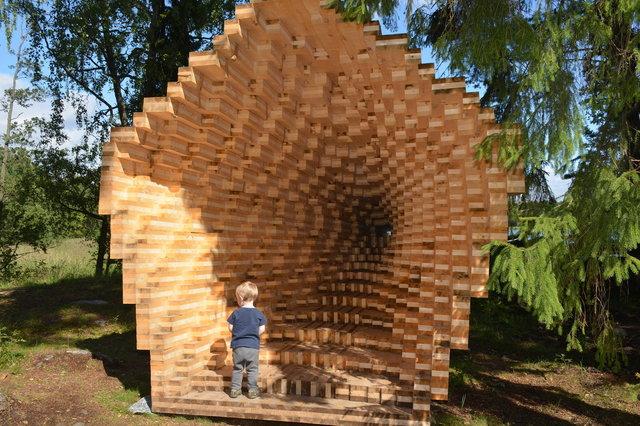 Julian investigates Y Installation at Seurasaari