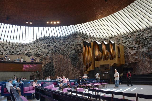 Inside Rock Church in Helsinki