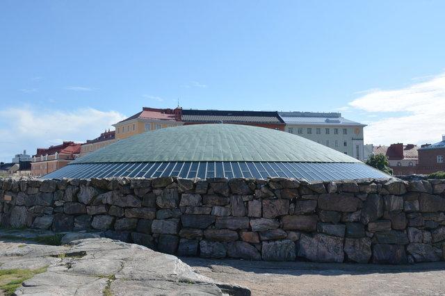 Roof of Rock Church in Helsinki