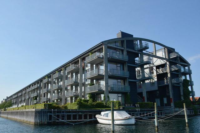 Housing on a canal in Copenhagen