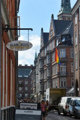 Pride flag in Copenhagen