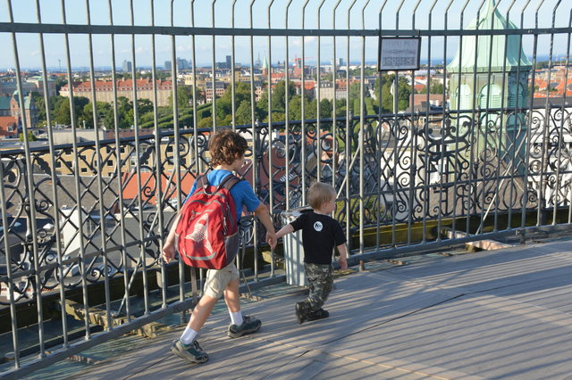 Calvin and Julian on top of the Round Tower