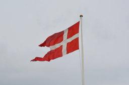 Danish flag flying at Kronborg