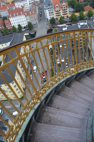 Stairs at the top of the spire of the Church of Our Saviour
