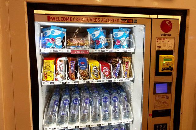 SIM cards in vending machine in Copenhagen Airport