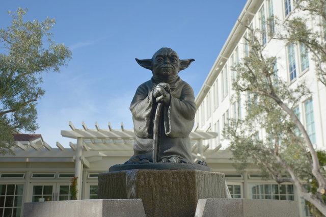 Yoda fountain at the Letterman Digital Arts Center