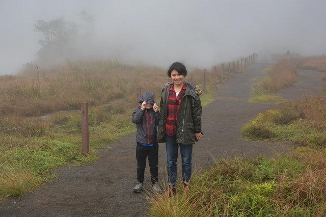 Calvin and Sasa on the Steaming Bluff above Kilauea Caldera