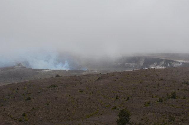 Smoke rising from Halema'uma'u Crater