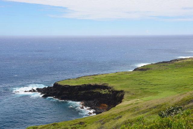 Naalehu headlands above the Pacific Ocean