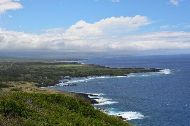 Ka'u coast above the Pacific Ocean