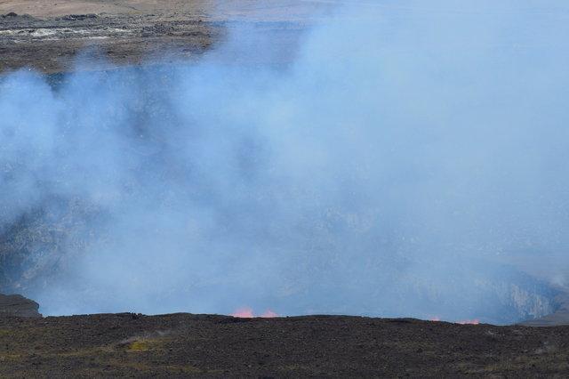 Lava erupting in Halema'uma'u Crater