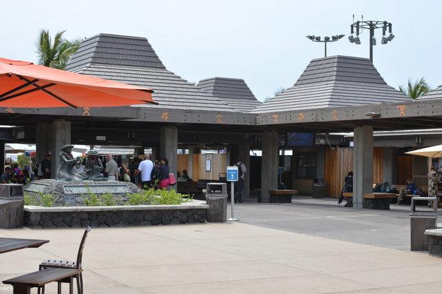 Open-air terminal at Kona Airport