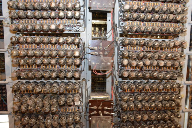 Vacuum tubes on Colossus