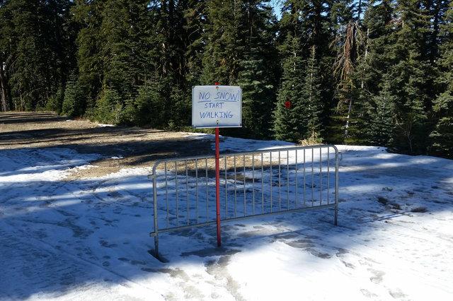No Snow! Start Walking