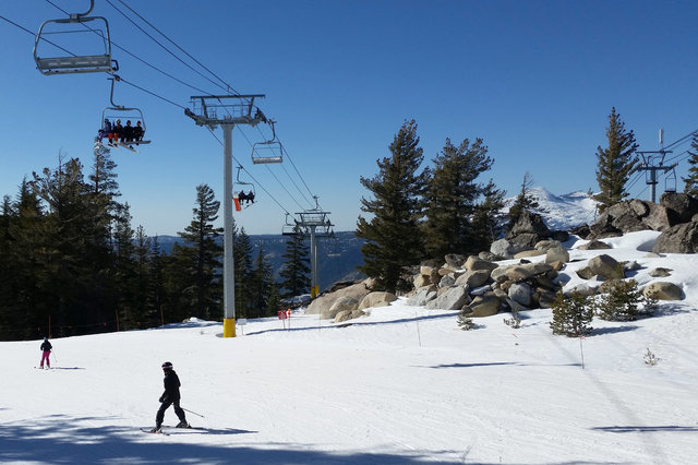 Main chairlift at Sierra-at-Tahoe