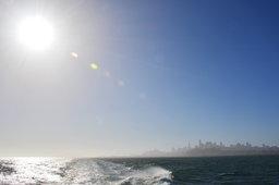 San Francisco skyline in the morning sun