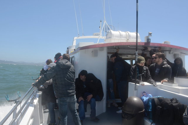 Whale-watching tourists return to San Francisco on the Outer Limits