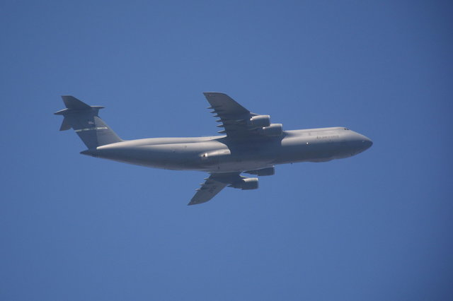 Air Mobility Command C-5 Galaxy (70042) over the Golden Gate