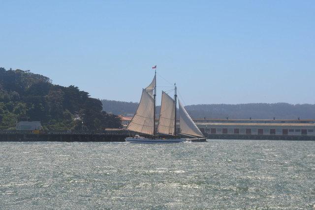 Schooner Alma sailing out of Aquatic Park