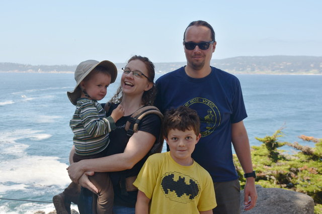 Family photo at Point Lobos (feat. Calvin and Julian)