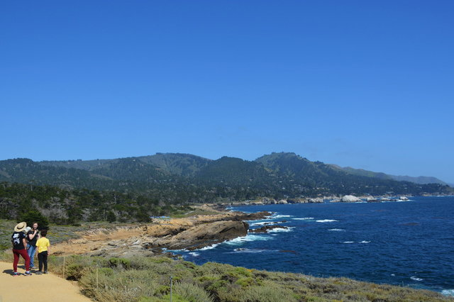 Echo, Kiesa, Julian, and Calvin above the Pacific Ocean at Point Lobos