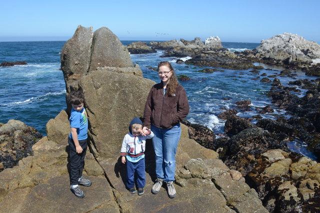 Calvin, Julian, and Kiesa at Asilomar State Marine Reserve