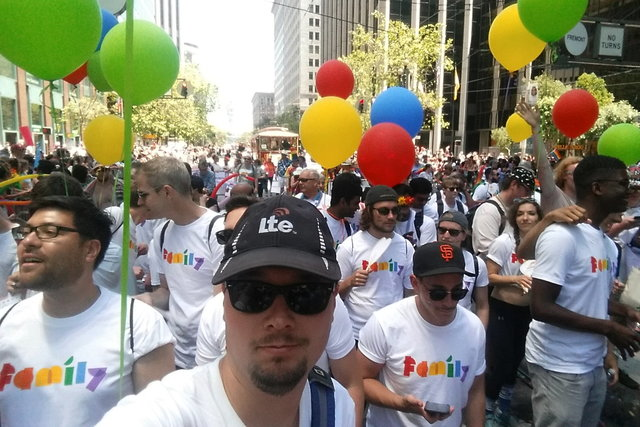 Jaeger marches down Market Street with Google for Pride