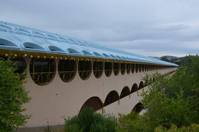 Geometric patterns on the roof at the Marin County Civic Center