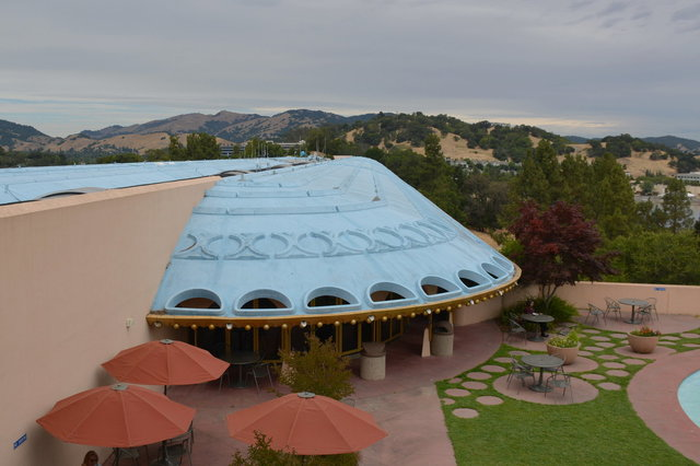 Dome roof over the cafeteria at the Marin County Civic Center