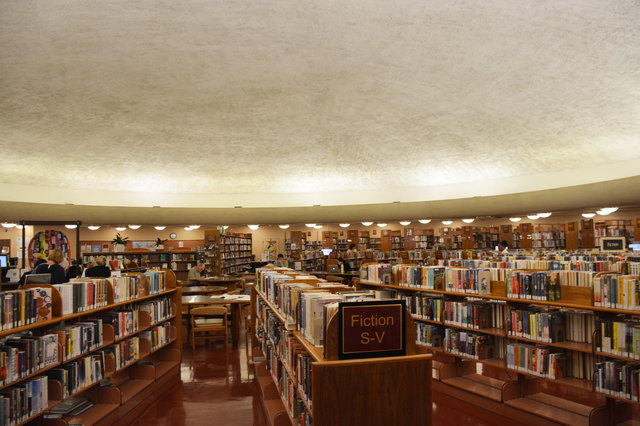 Marin County Free Library under the dome at the civic center