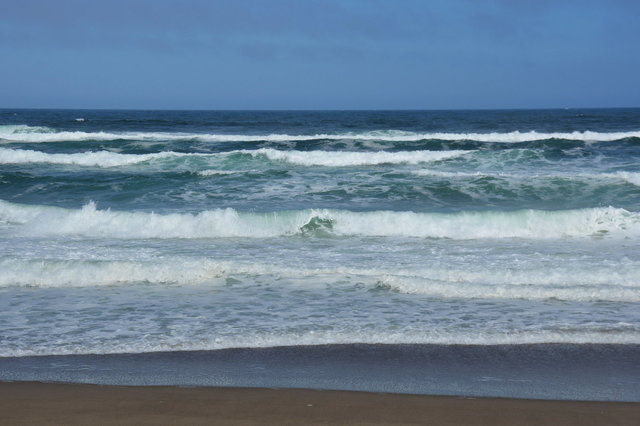Waves crash on the beach at Point Reyes