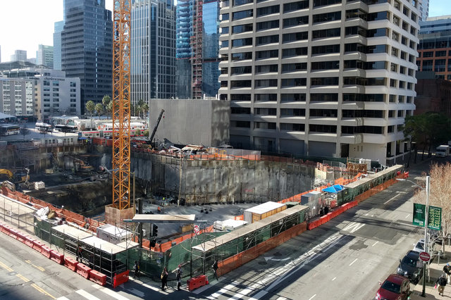 Foundation excavated for the Folsom Bay Tower