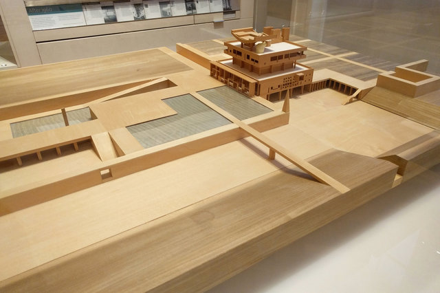 Model of Governor's Palace in Chandigarh by Le Corbusier