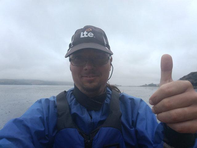 Jaeger kayaking on Tomales Bay