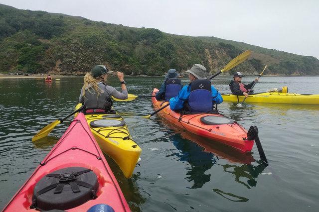 Kayak tour on Tomales bay
