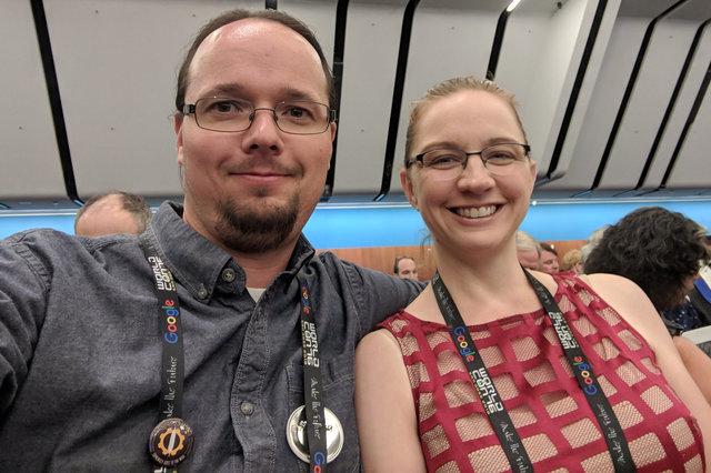 Jaeger and Kiesa at the Hugo Awards at Worldcon 76