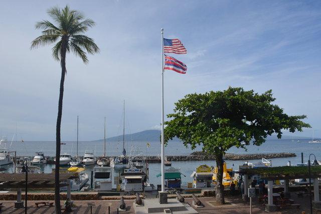 Lahaina Harbor and Lana'i Island