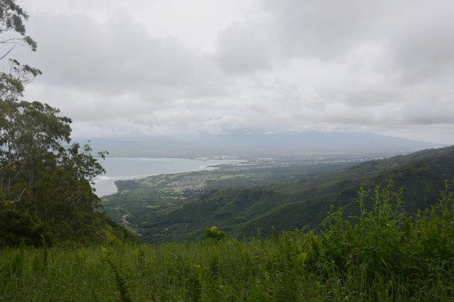 Looking down towards Kahului