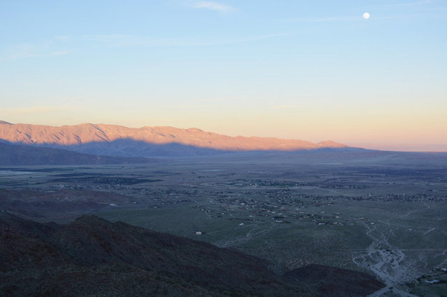 Borrego Valley at sunset