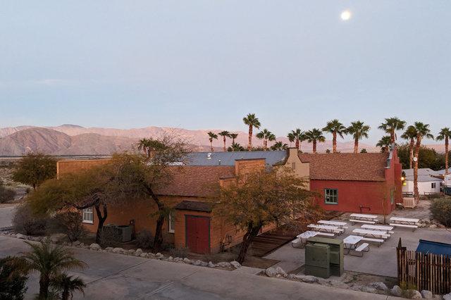 Moon rising over Palm Canyon Resort