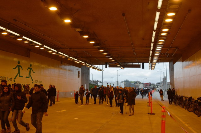 Inside the SR-99 tunnel