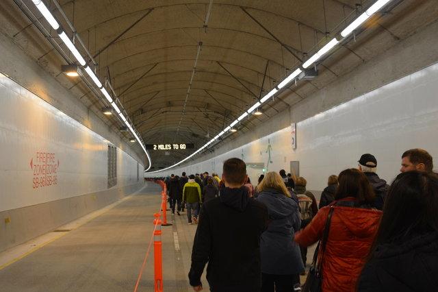 Walking through the SR-99 tunnel