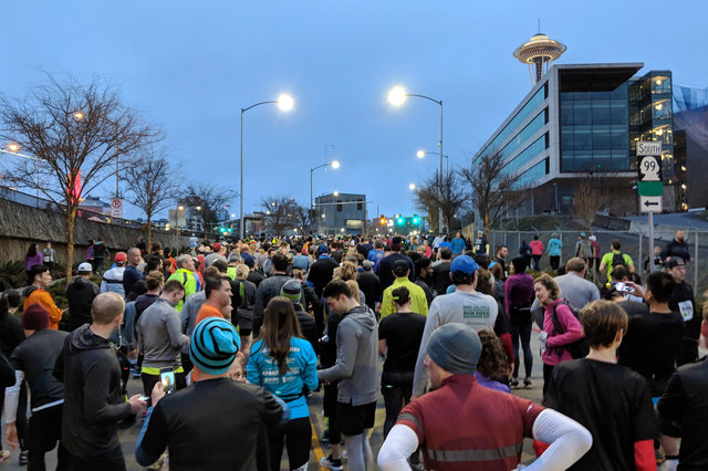 Waiting for the Tunnel to Viaduct run in corral 2