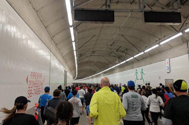 Running through the SR 99 tunnel
