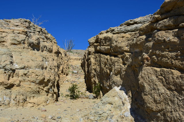Calcite mining trench