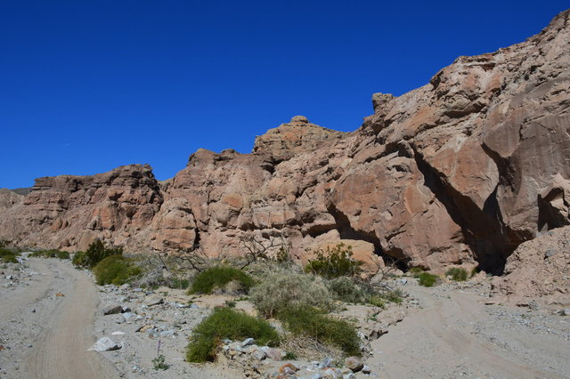 Rock formation in Palm Tree Wash