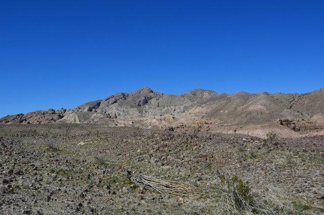 Santa Rosa Mountains rising above desert