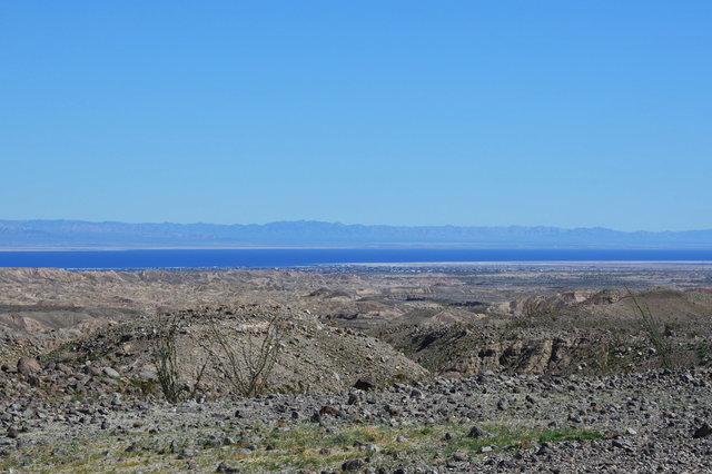 Looking down onto the Salton Sea