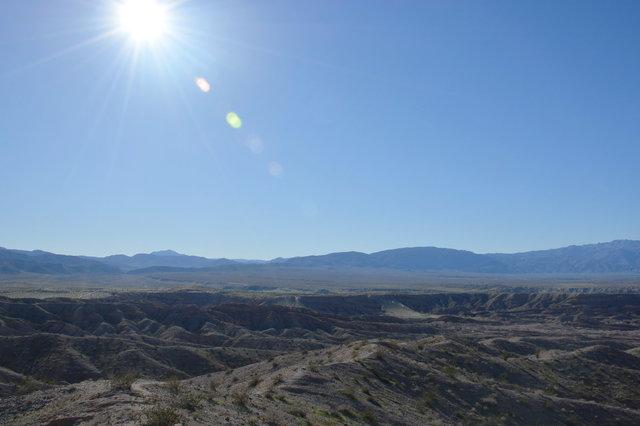 Sun over the Borrego Badlands