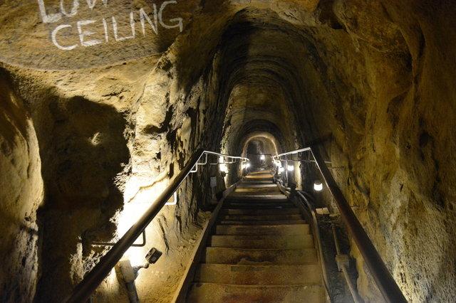 Stair descending into La Jolla Cave